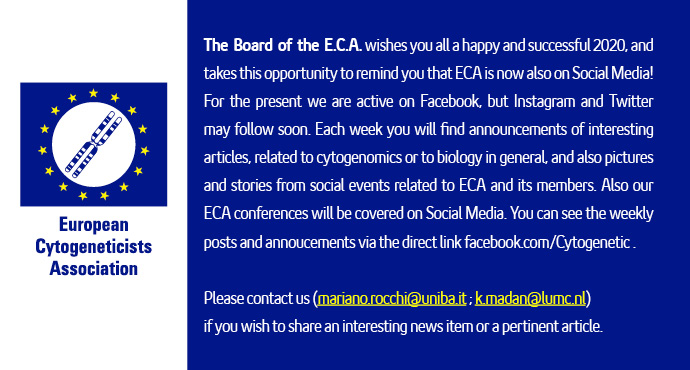 ECA Board Announcement